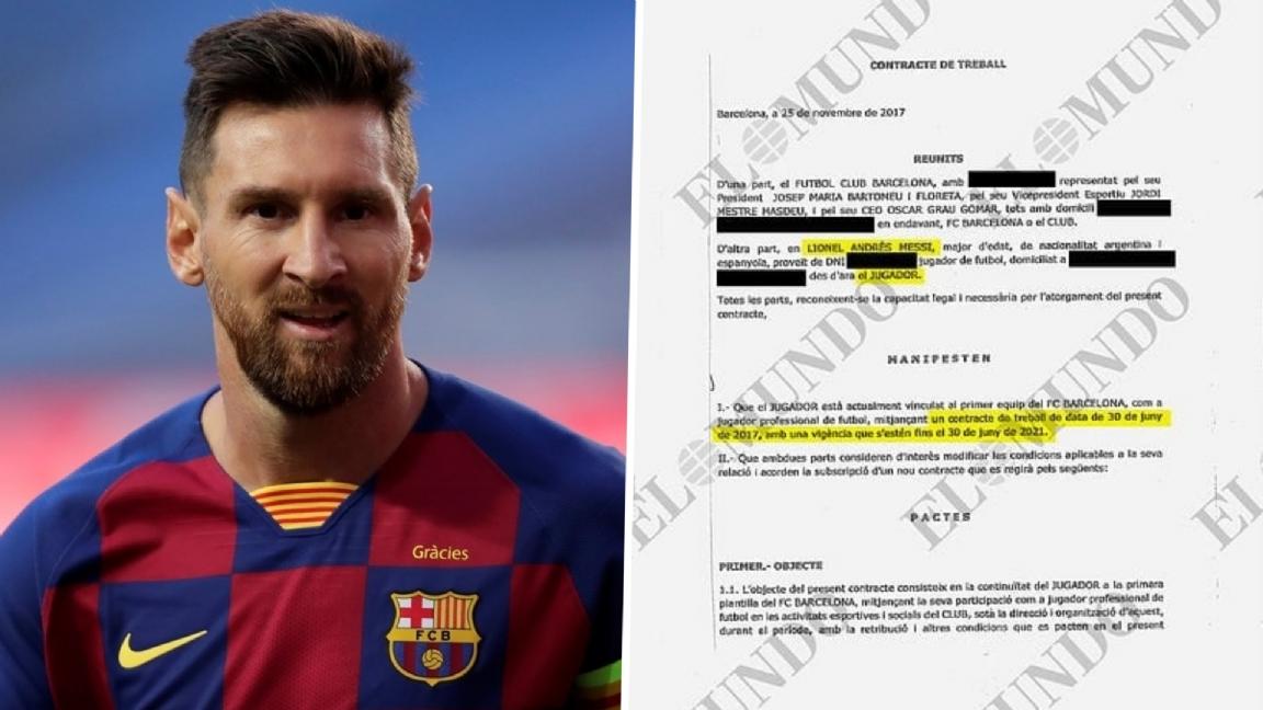 Contract Messi Op Straat Gelekt 555 Miljoen Euro Barcelona Reageert