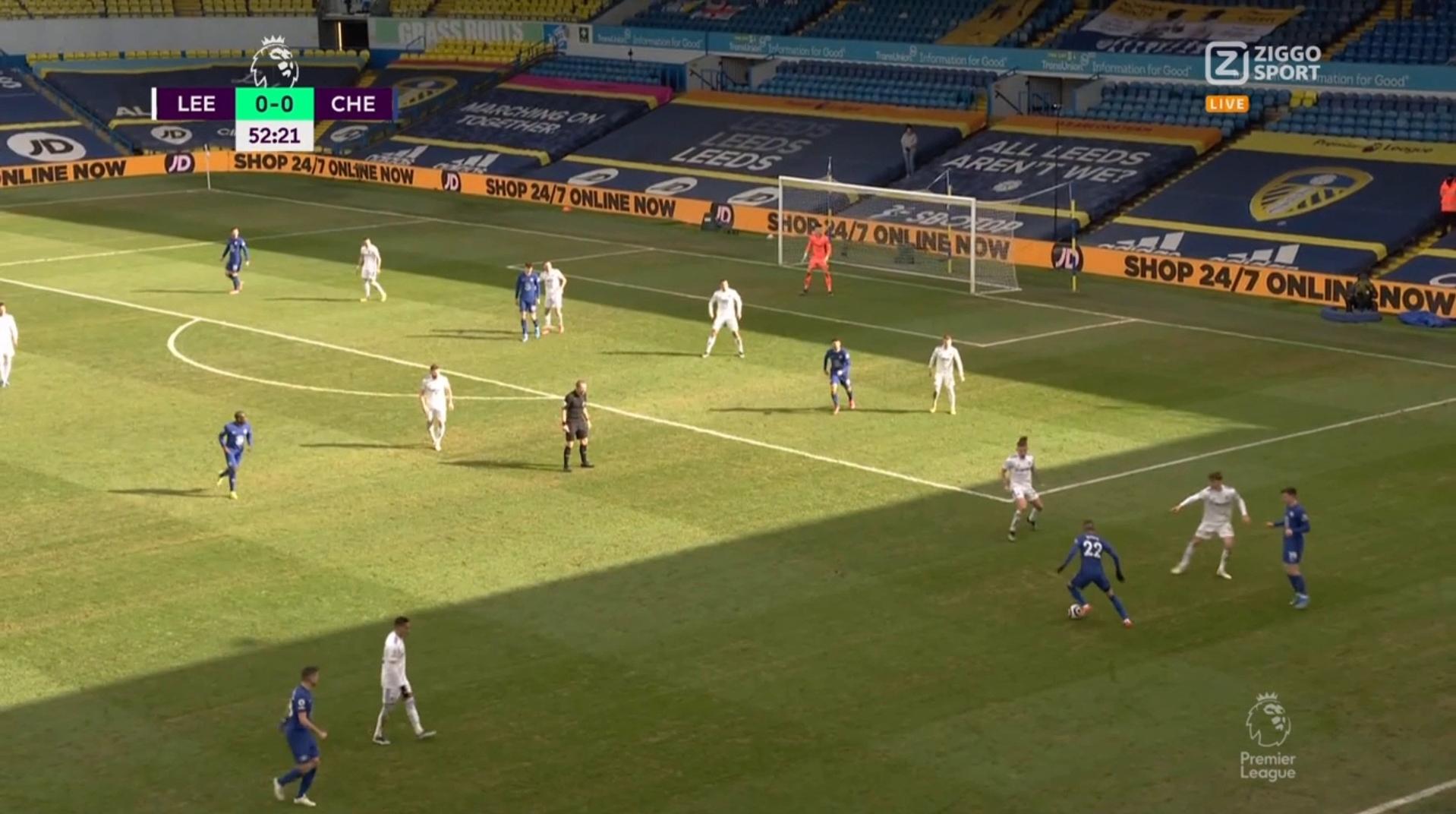 Hakim Ziyech weet slechts op één moment te imponeren tegen Leeds United - Voetbalzone.nl